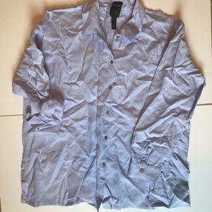 Eileen Fisher organic linen blouse, medium